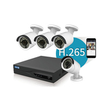H.265 Bullet 2MP 4CH POE NVR KIT